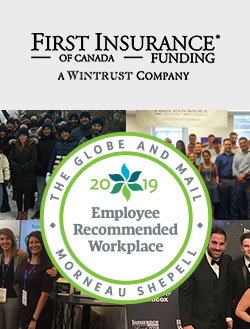 FIRST Canada recognized as a 2019 Employee Recommended Workplace